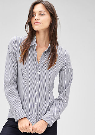 Gestreifte Stretch-Bluse