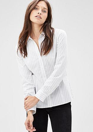 Gestreifte Stretch-Bluse