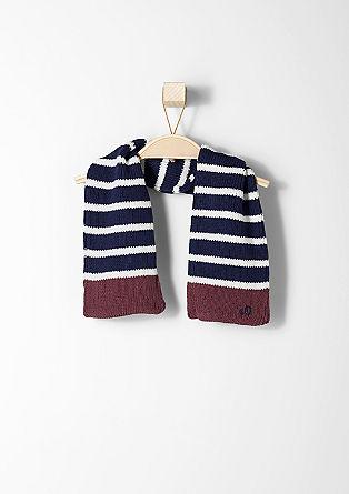Gestreifter Schal aus Strick