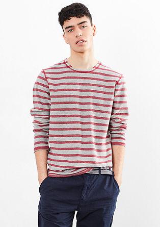 Gestreifter Stricksweater