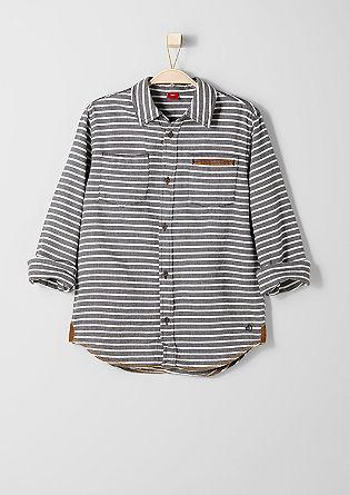 Gestreiftes Fischgrat-Hemd