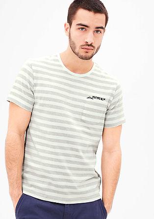 Gestreiftes Shirt mit Brusttasche