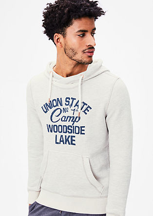Gestructureerde hoodie met print