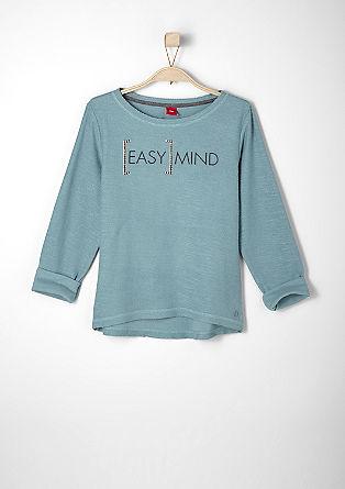 Gestructureerde sweater met applicatie