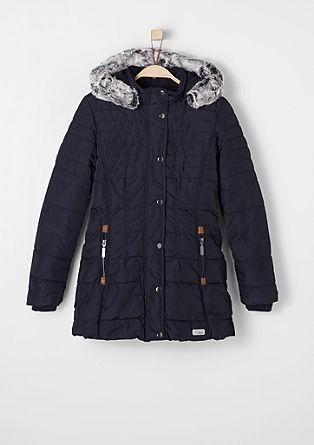 Gevoerde, gewatteerde mantel