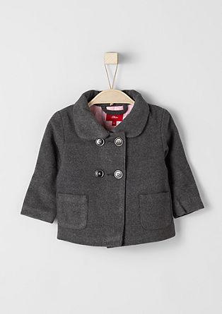 Gevoerde jas met een wollen look