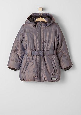 Gevoerde mantel met een metallic look