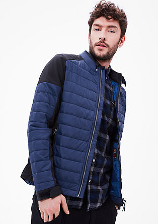 Gewateerde jas met softshell