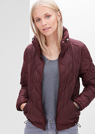 Gewatteerde jas met de look van een bomberjack
