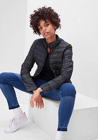 Gewatteerde jas met luchtige donzen look