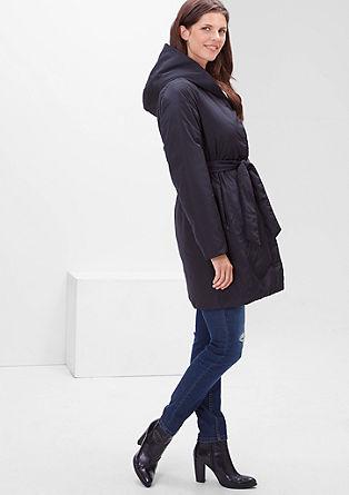 Gewatteerde mantel met een minimalistische look