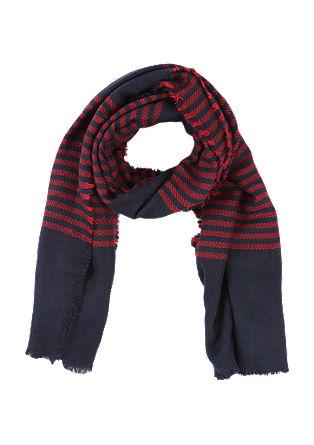 Gewebter Schal mit Streifen