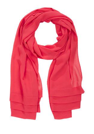 Geweven sjaal met een chiffon laag