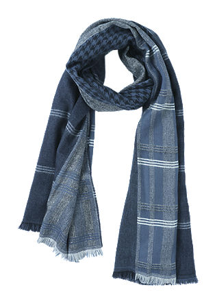 Geweven sjaal met motiefmix