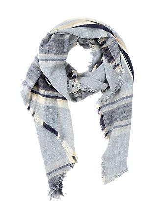 Geweven sjaal met ruitdessin