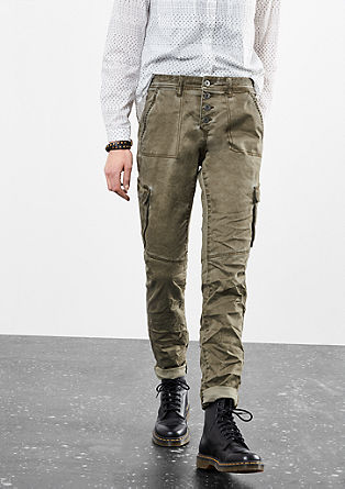Girlfriend: Cargo trousers with a button placket from s.Oliver