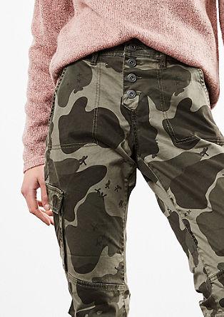 Girlfriend: Kalhoty cargo sknoflíkovou lištou
