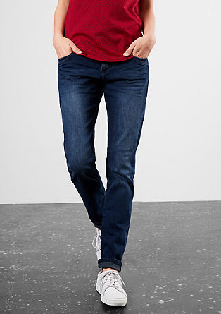 Girlfriend: sproščene raztegljive jeans hlače