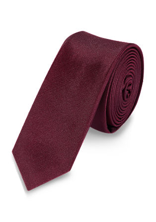 Gladde zijden stropdas