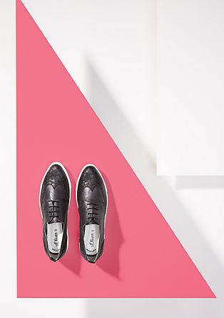 Glänzende Plateau-Loafer