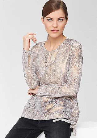 Glänzende Transparenz-Bluse