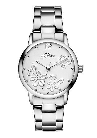 Glänzende Uhr aus Edelstahl