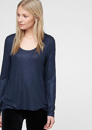 Glänzendes Vokuhila-Shirt