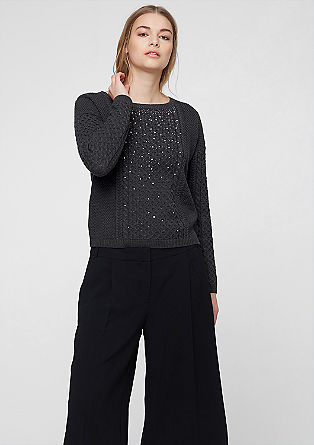 Glamorous jumper in a textured knit from s.Oliver