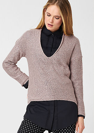 Glamorous jumper with a percentage of mohair from s.Oliver