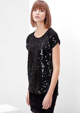 Glamorous sequinned top from s.Oliver