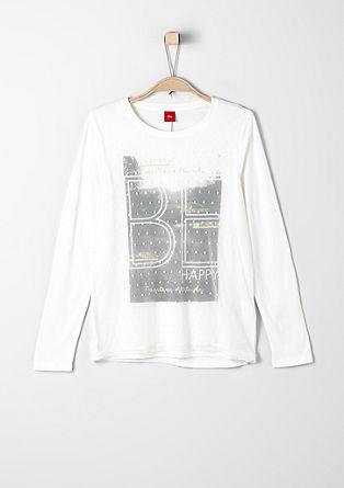 Glamour-Shirt im Layer-Look