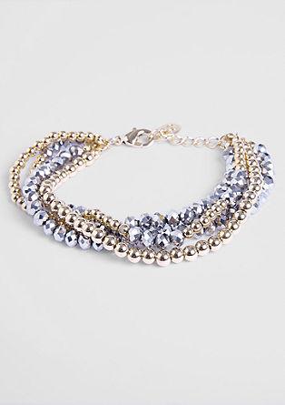 Glamoureuze armband met glazen kralen