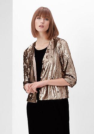 Glamoureuze blazer met pailletjes