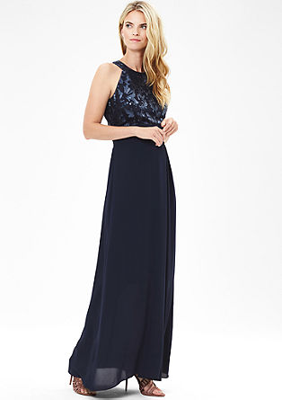 Glamoureuze maxi dress met pailletten