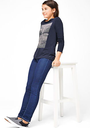 Glamurozna majica večslojnega videza