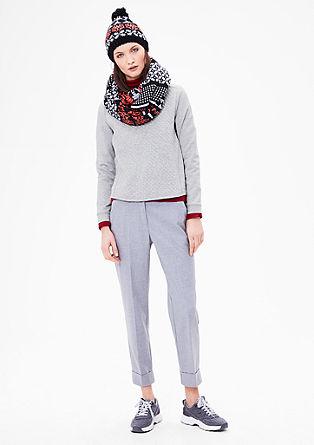 Glamurozni sweatshirt pulover z rombastim vzorcem