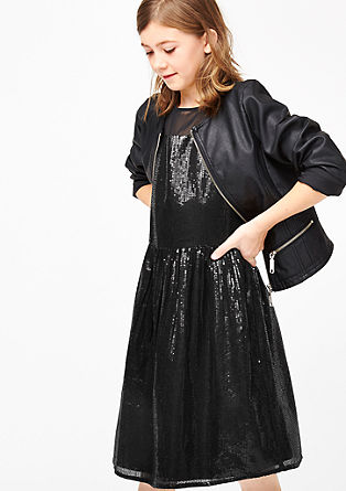 Glanzende jurk met pailletjes