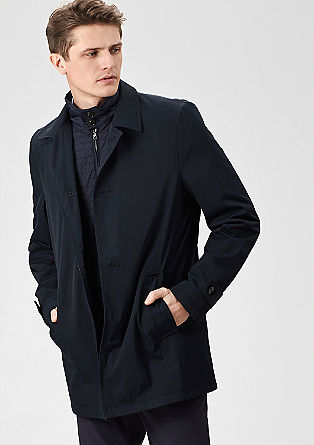Glanzende twill mantel