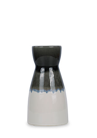 Glasierte Vase in Bicolor-Optik