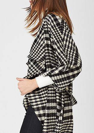Glen plaid coat in a wool blend from s.Oliver