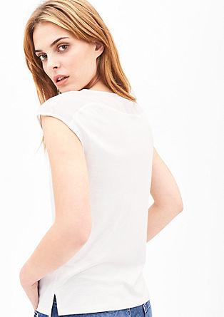 Glitter-Shirt mit Leinen