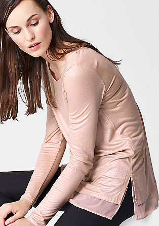 Glittery, long sleeve layered top from s.Oliver