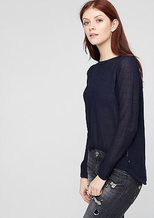 Glittery jumper with a chiffon trim from s.Oliver