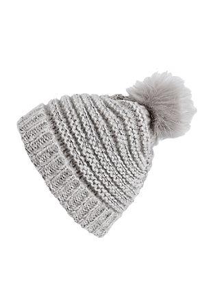 Glitzer-Mütze mit Fake Fur