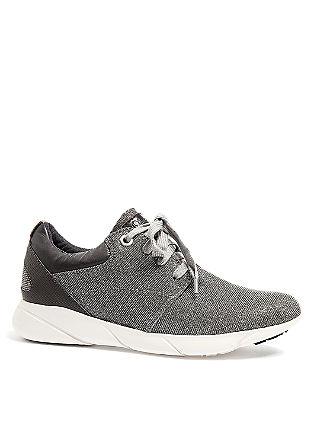 Glitzer-Sneaker mit weißer Sohle