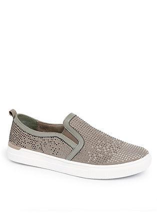 Glitzernde Slip-on Sneaker