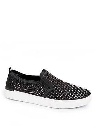 Glitzernde Slip-on Sneaker