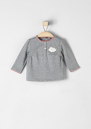 Glitzershirt mit Wolken-Applikation