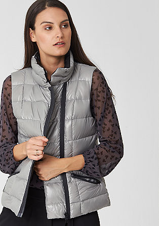 Glossy down body warmer from s.Oliver