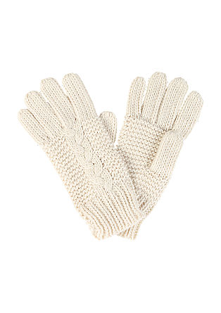 Gloves in a mix of textures from s.Oliver